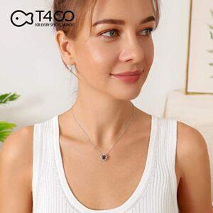 Dancing Diamond Stone, Fox Pendant, Necklace, Sterling Silver Jewelry